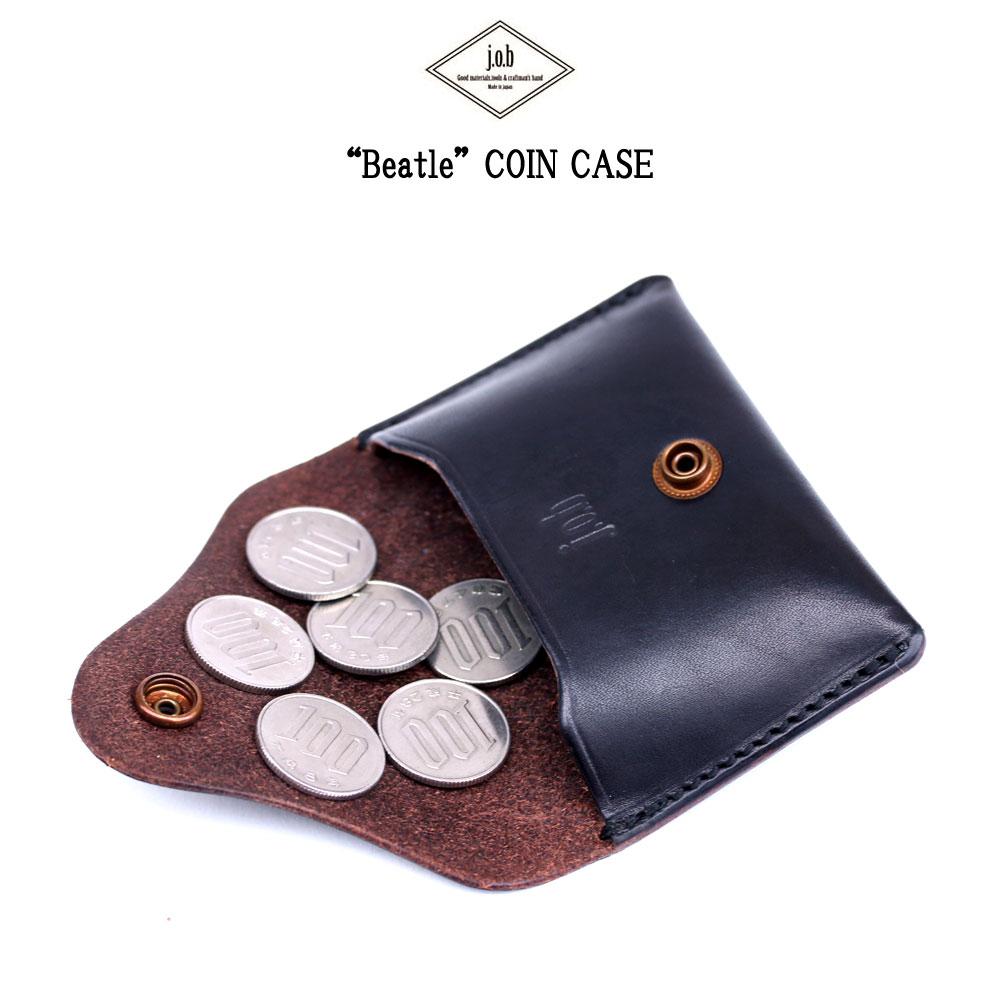 【メール便配送】 j.o.b leather products コインケース 小銭入 Beatle