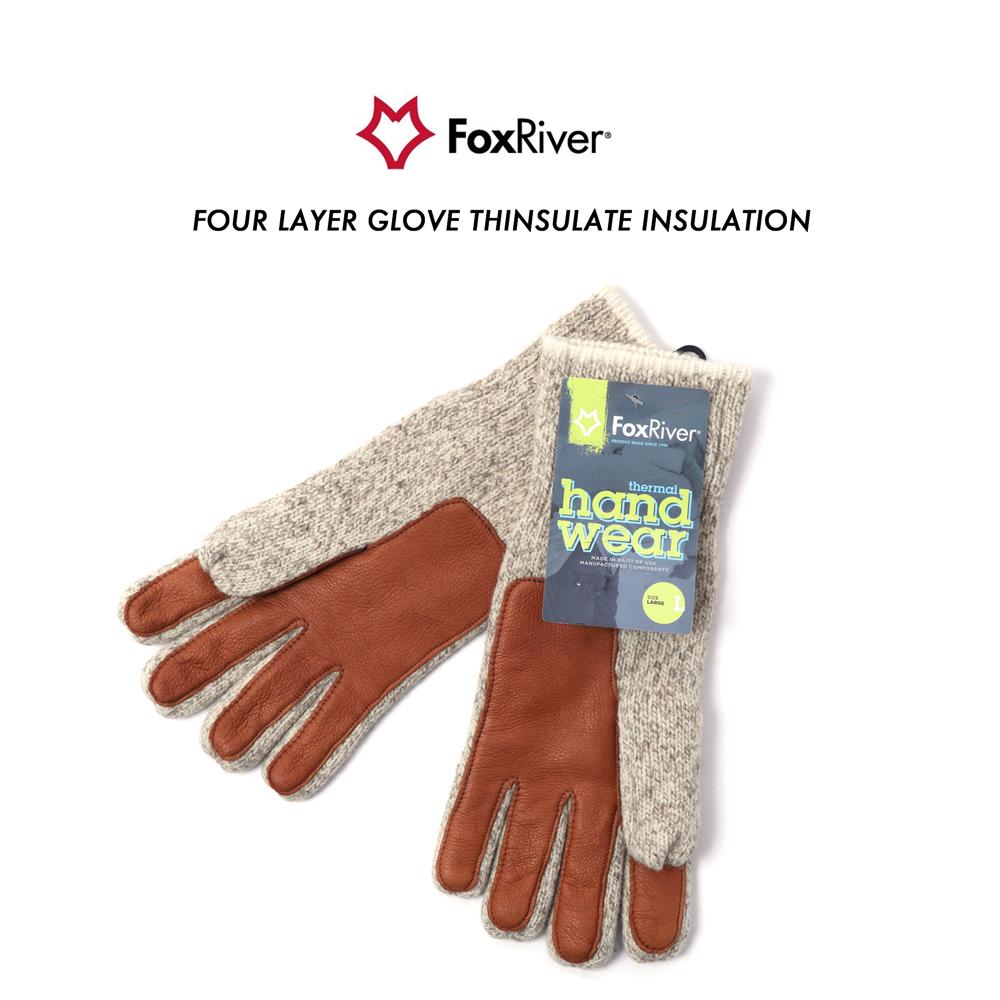 Fox River Four Layer Glomitt Gloves Winter Wool Mittens Fingerless USA Made