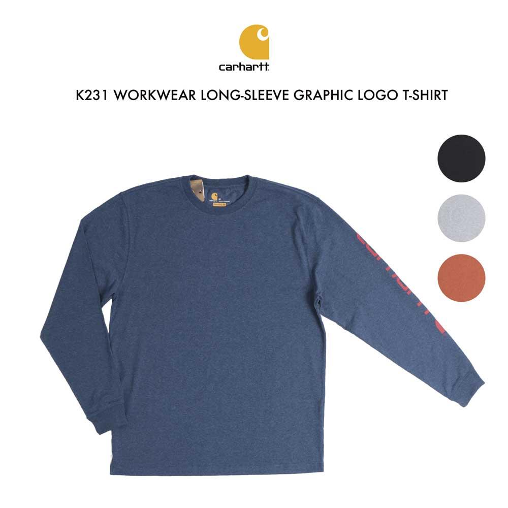 【全品10%OFFクーポン配布中 12/26 2時迄】carhartt カーハート K231 Tシャツ 長袖 メンズ シャツ ロングスリーブグラフィックロゴTシャツ Tee WORKWEAR LONG-SLEEVE GRAPHIC LOGO T-SHIRT ロングスリーブグラフィックロゴTシャツ