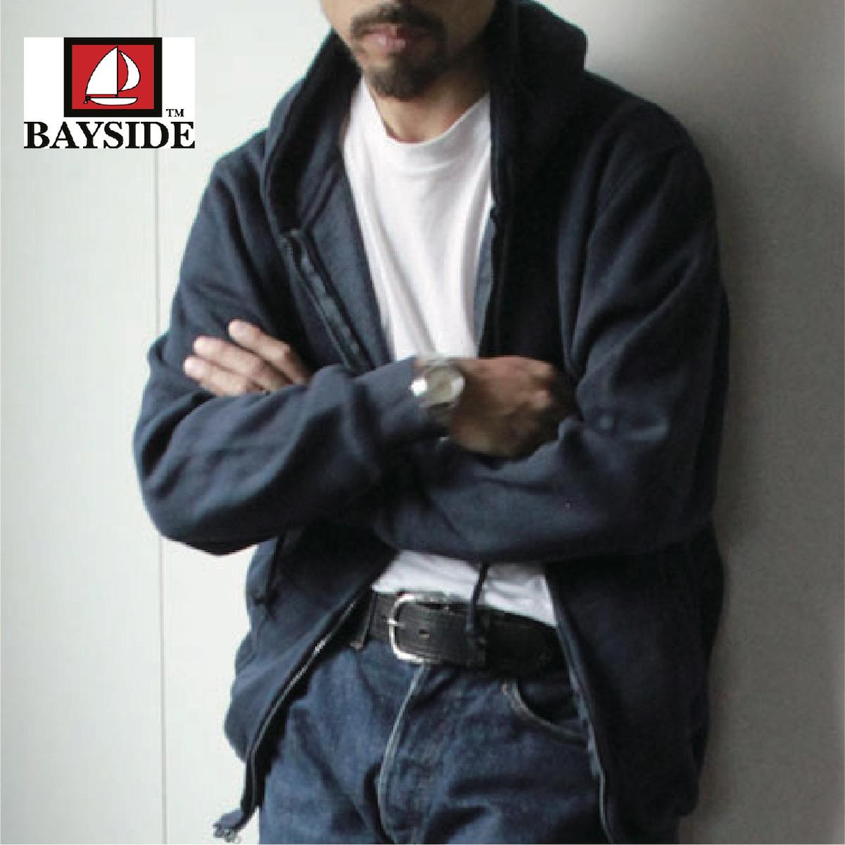 #900 フルジップ パーカ- フリース スウェットシャツ全3色 ベイサイド(BAYSIDE) アメリカ製 USA製