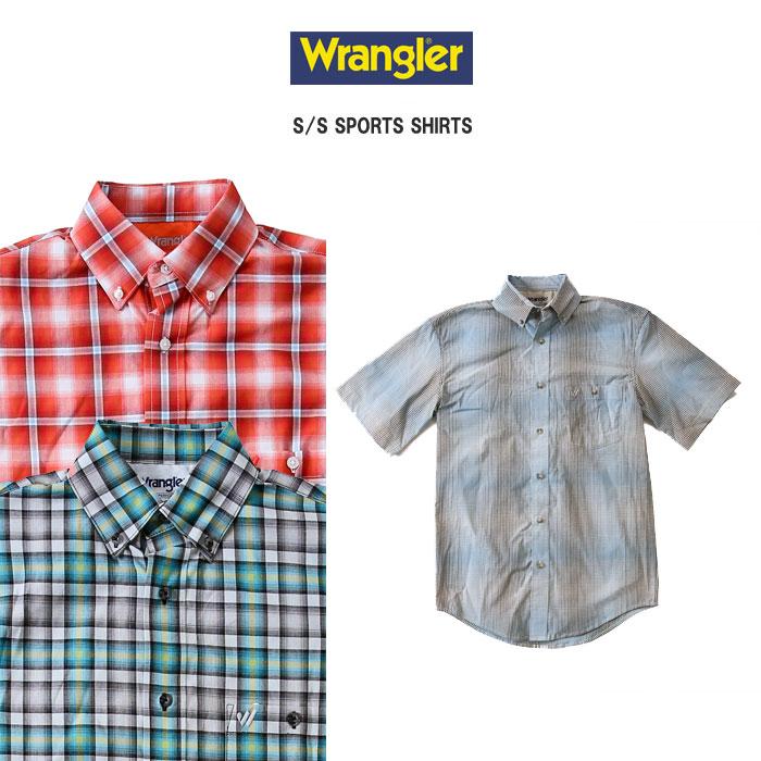 【全品10%OFFクーポン配布中 12/26 2時迄】Wrangler ラングラー 半袖チェックスポーツシャツ 全3色 【ラッピング・返品・交換不可】