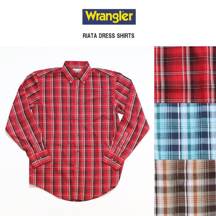 【全品10%OFFクーポン配布中 12/26 2時迄】Wrangler ラングラー 長袖チェックボタンダウンドレスシャツ 全3色