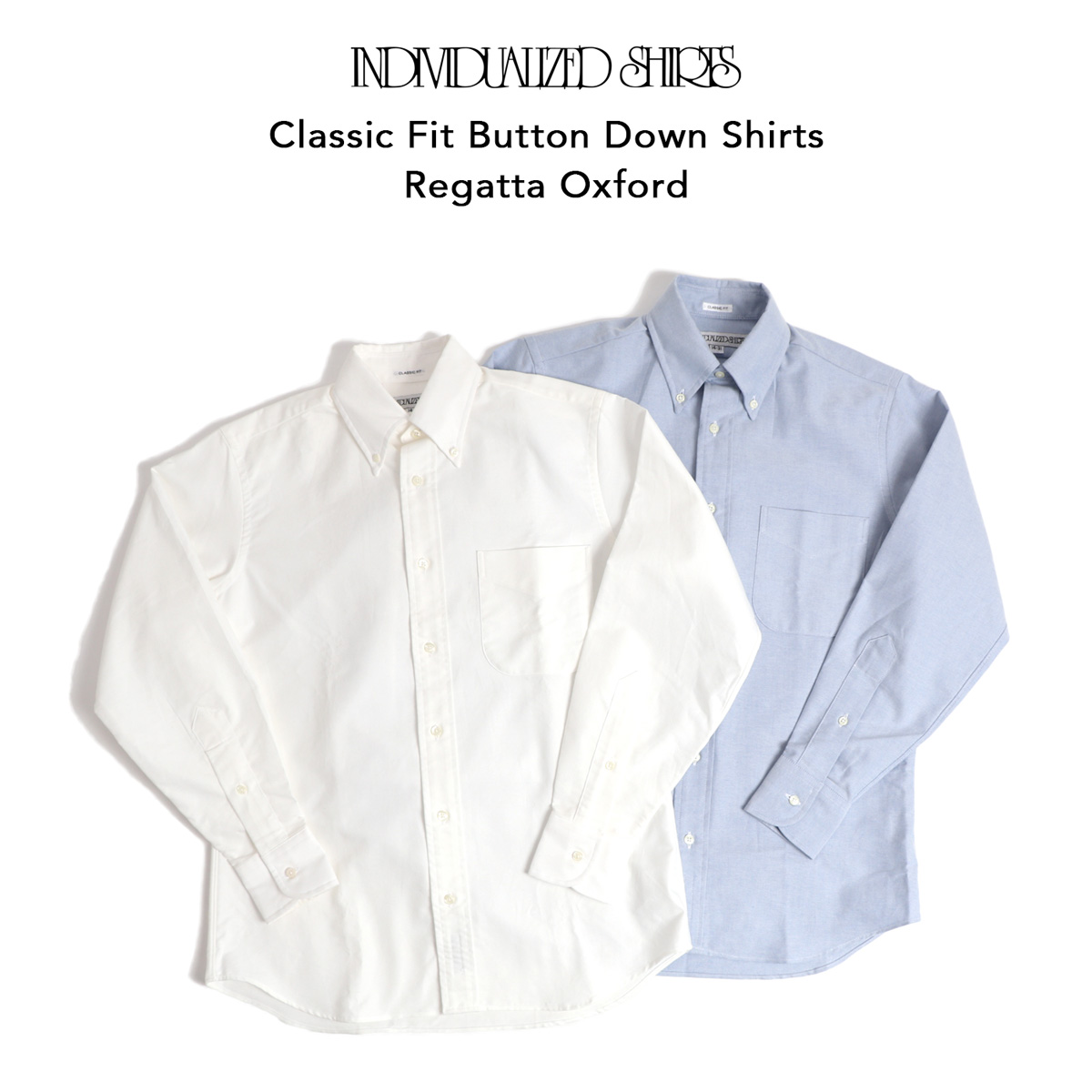 INDIVIDUALIZED SHIRTS ボタンダウンシャツ Classic Fit Regatta Oxford