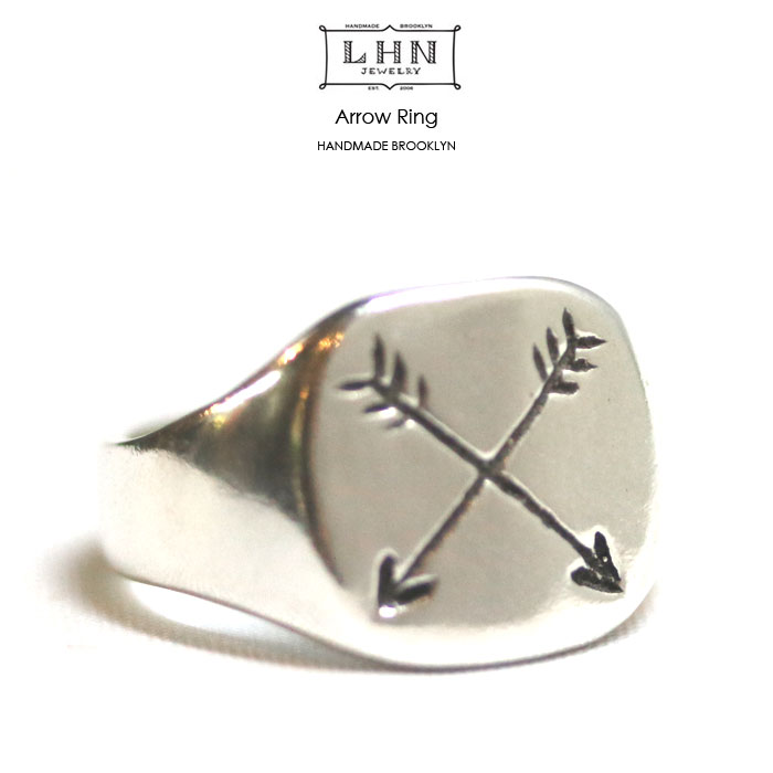 【メール便配送】 LHN Jewelry(エルエッチエヌ ジュエリー) Arrow Ring ピンキーリング7~11号(US4~6) Handmade In Brooklyn