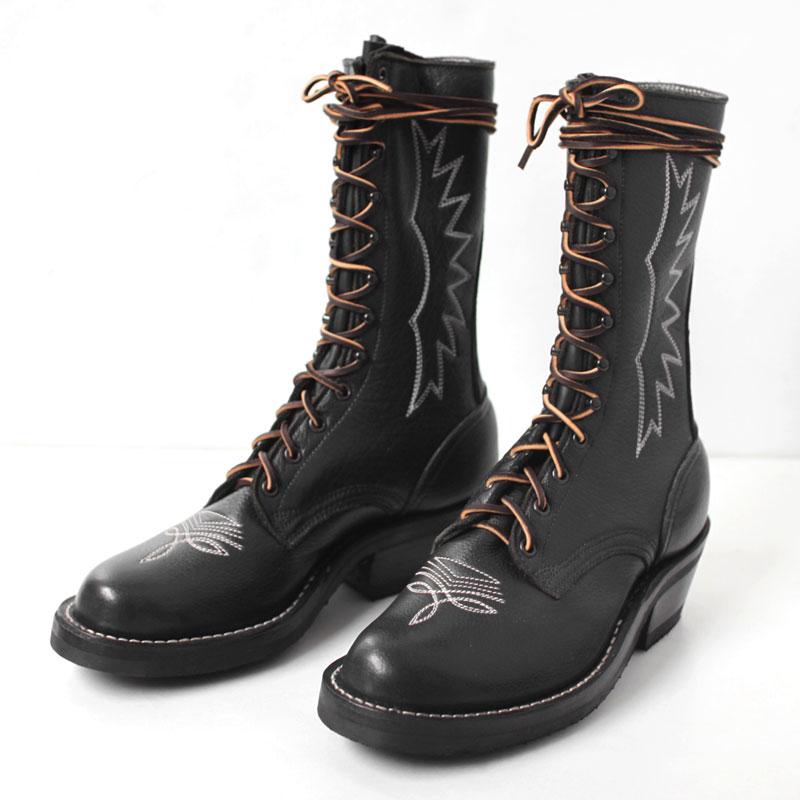 ブルハイドパッカーブーツ ブラック ニックスブーツ(NICKS BOOTS)