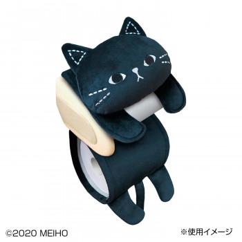 シンプルでかわいい黒ねこデザインのトイレペーパーホルダー StitchMimitz ねこのミミッツ 直営店 トイレロールペーパーホルダー 最安値 NM010