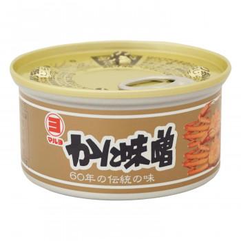 海の自然の恵みで作られたかに味噌缶 マルヨ食品 かに味噌缶詰 100g×48個 01001