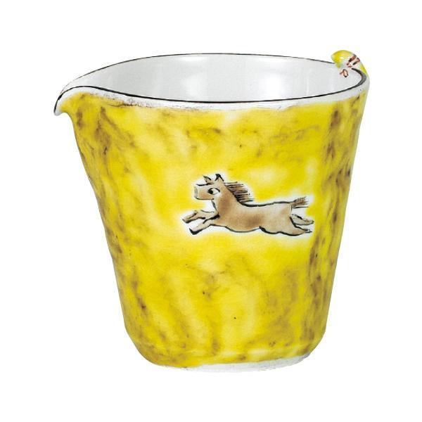 絵付け職人による手書きのカップです 全品送料無料 九谷焼 孝知作 流行のアイテム 片口 馬 N122-04 240cc
