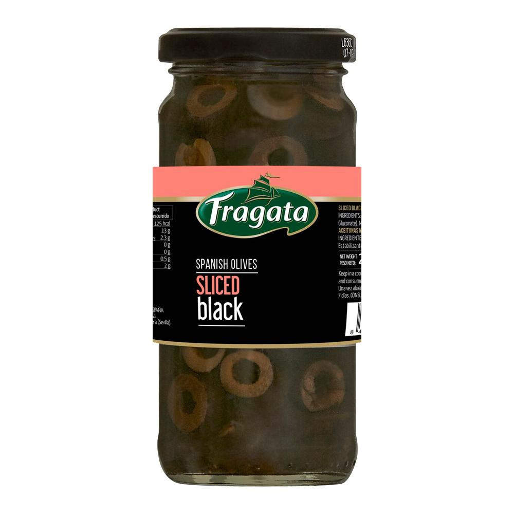 サラダなどのお料理にそのまま使えるスライスオリーブです 百貨店 Fragata フラガタ 120g×12個セット スライスブラックオリーブ 有名な