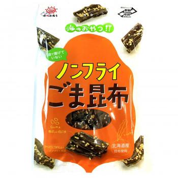 北海道産昆布を使用し、ノンフライ製法でサクサク食感です。 前島食品 たべたろう ノンフライごま昆布 35g 10袋×8