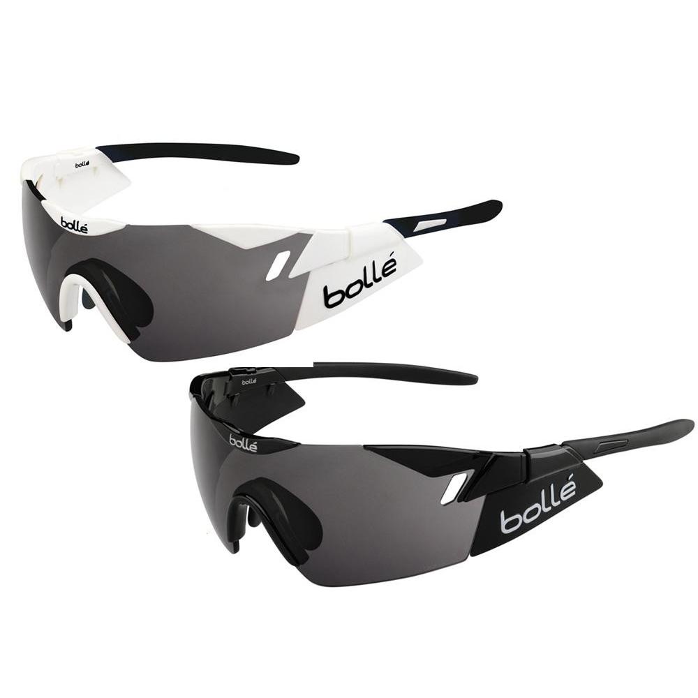 bolle(ボレー) スポーツサングラス 自転車競技用 6th SENSE Sホワイト・ブラック・12162