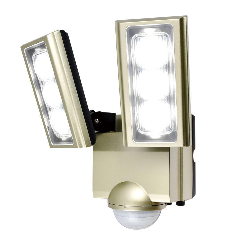 AC100V電源(コンセント式) ELPA(エルパ) ESL-ST1202AC 屋外用LEDセンサーライト