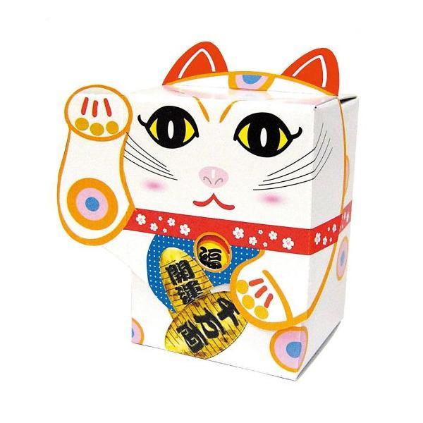 開運招福 招き猫 BOXティッシュ 100個入 白 7095
