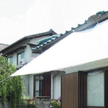 日差しから品物を守る!!遮熱・防水カバー☆ 萩原工業 遮熱シート スノーテックス・クール 約3.6×5.4m 6枚入