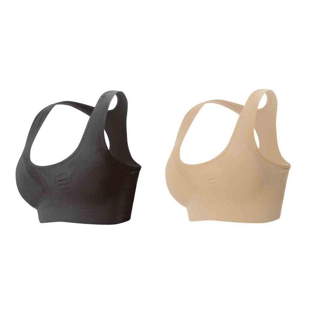 美姿勢美胸ブラ 2枚組 ブラック・ベージュ S-M