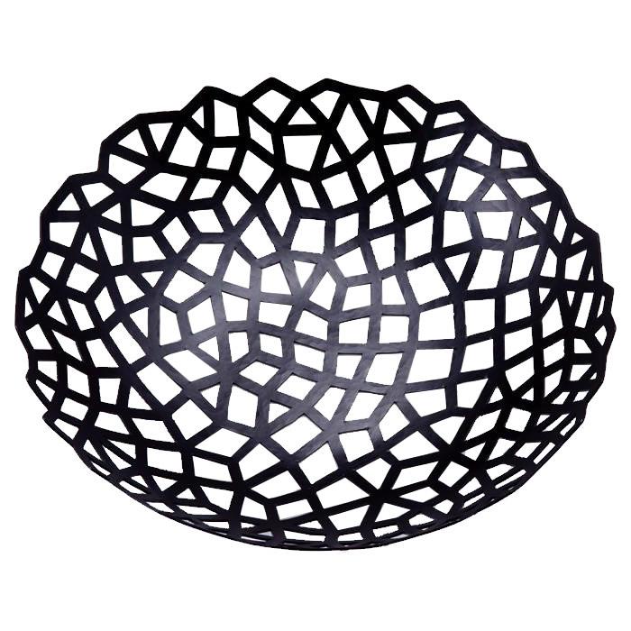 薄い鉄板を伝統工芸士が手打ちで造形 naft 网 amime ふるさと割 フルーツボウル ブラック Lサイズ 爆買いセール