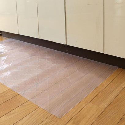DPF(ダイヤプラスフィルム) キルト柄透明キッチンマット 60cm×180cm