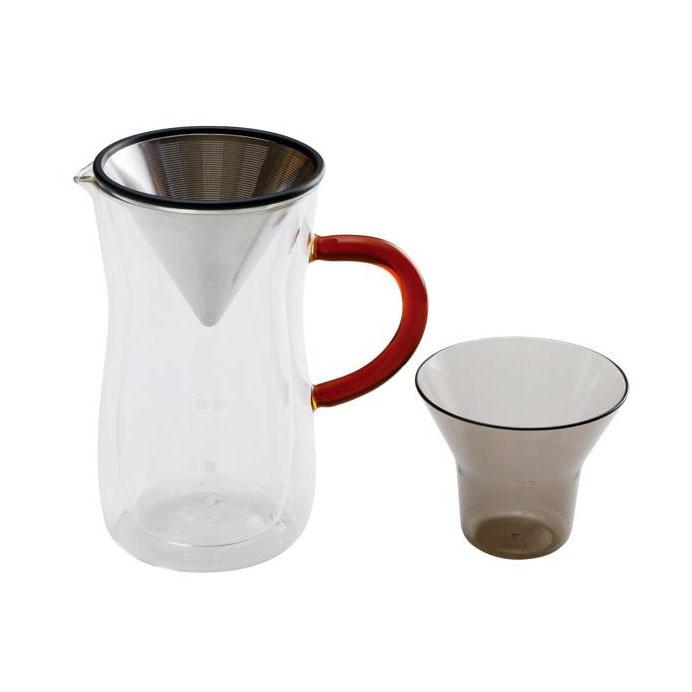 bonmac ダブルウォールコーヒーカラフェセット 700ml 869837