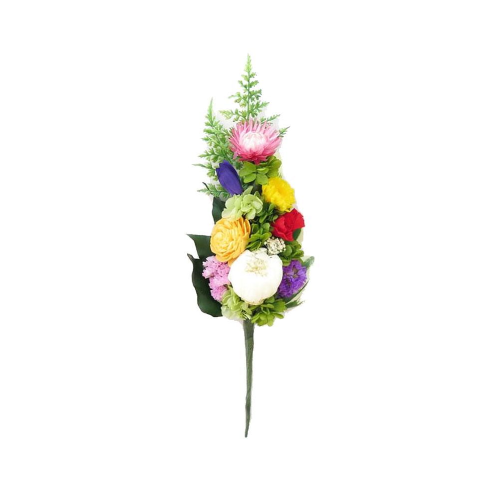お手入れいらずの仏花でいつも美しく 土橋美穂デザイン お供え用 プリザーブドフラワー 信頼 アレンジメント ストア Mサイズ B 花のみ