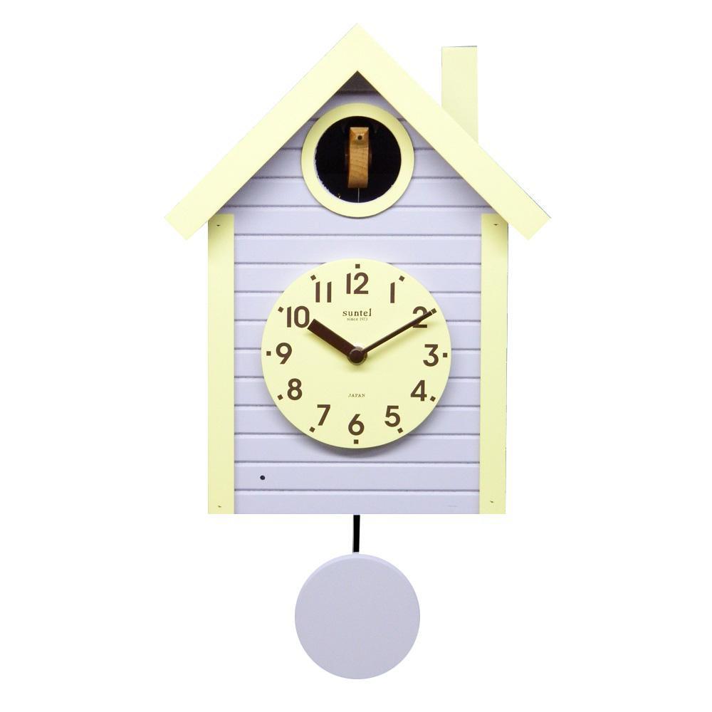 ポッポ~ と時を知らせてくれる鳩時計 さんてる 日本製 選択 手作り ラベンダー 開店祝い 鳩時計 SQ03-LD 北欧カラー