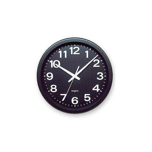 さんてる 日本製 モジくっきり掛け時計 ブラック QL876-BK