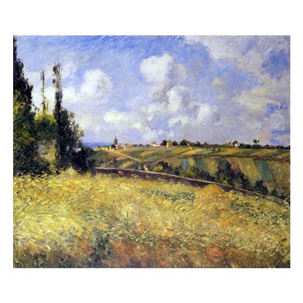 プリハード カミーユ・ピサロ ポントワーズ・ライ麦畑とマチュランの丘 F8号 額縁B 4622