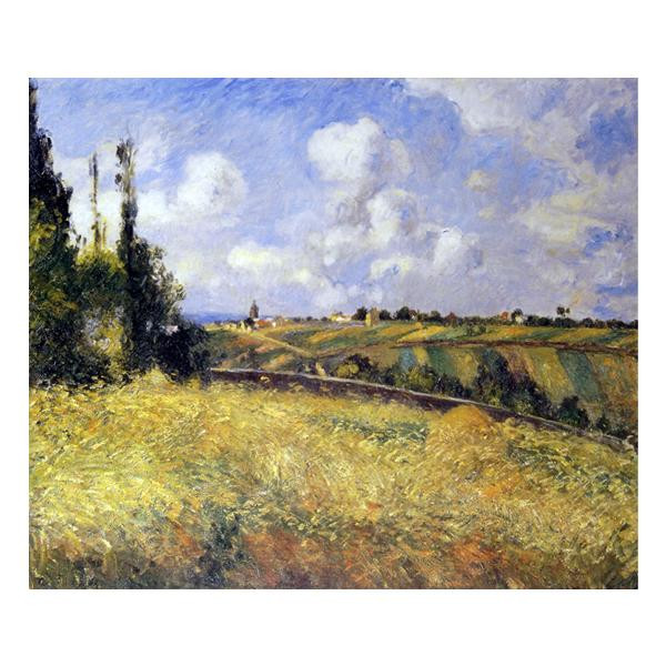 プリハード カミーユ・ピサロ ポントワーズ・ライ麦畑とマチュランの丘 F8号 額縁C 4622