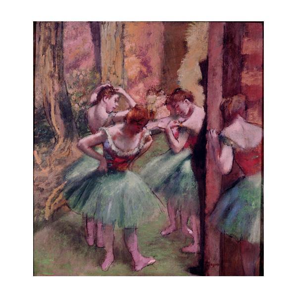 プリハード エドガー・ドガ 踊り子、ピンクとグリーン F3号 額縁D 1061