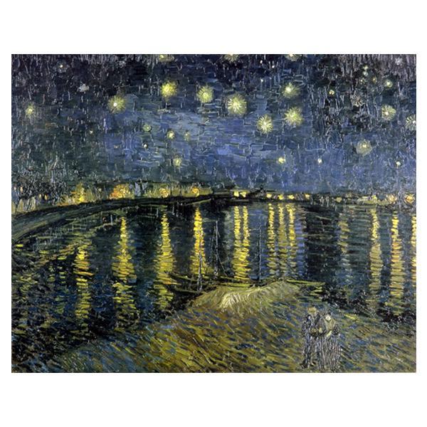 ヴィンセント・ヴァン・ゴッホの複製画です。 プリハード ヴィンセント・ヴァン・ゴッホ 星降る夜、アルル P10号 額縁A 5778