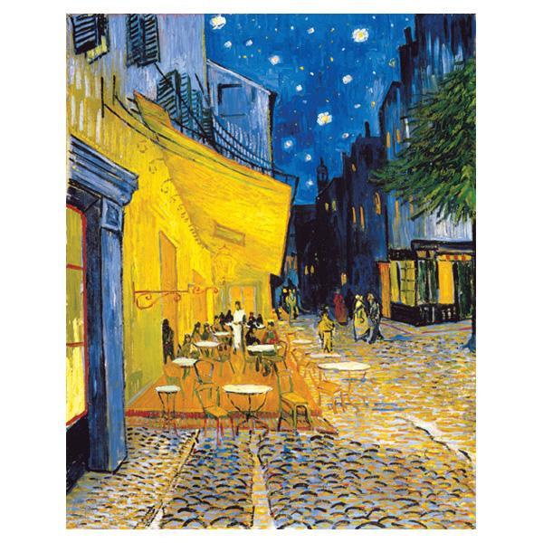 ヴィンセント・ヴァン・ゴッホの複製画です。 プリハード ヴィンセント・ヴァン・ゴッホ 夜のカフェテラス F8号 額縁A 4070