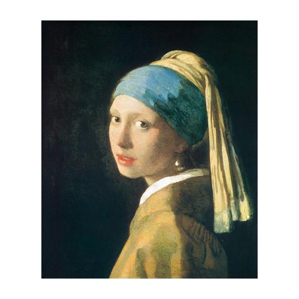 プリハード ヨハネス・フェルメール 青いターバンの少女 F8号 額縁G 4556
