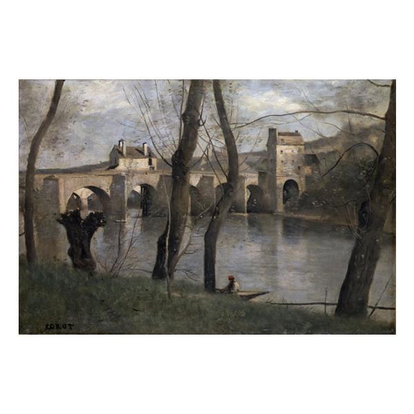 プリハード ジャン・バティスト・カミーユ・コロー マントの橋 F6号 額縁B 3258