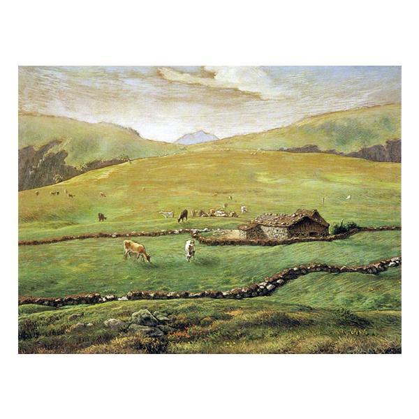 プリハード ジャン・フロンソワ・ミレー ヴォージュ山中の牧場風景 F3号 額縁A 1421