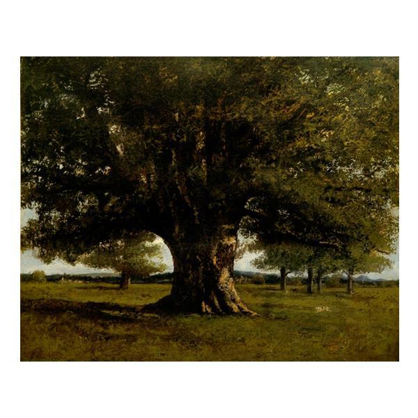 プリハード ギュスターヴ・クールベ フラジェの樫の木 P10号 額縁B 5746