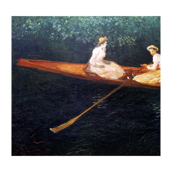 プリハード クロード・モネ エプト川の舟遊び F8号 額縁C 4499