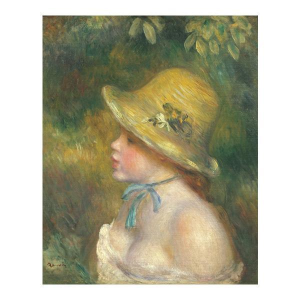 プリハード ピエール・オーギュスト・ルノワール 麦わら帽子を 被った若い娘 F8号 額縁A 4360