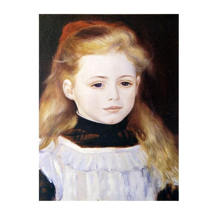 プリハード ピエール・オーギュスト・ルノワール 白いエプロンの少女 F3号 額縁D 1023