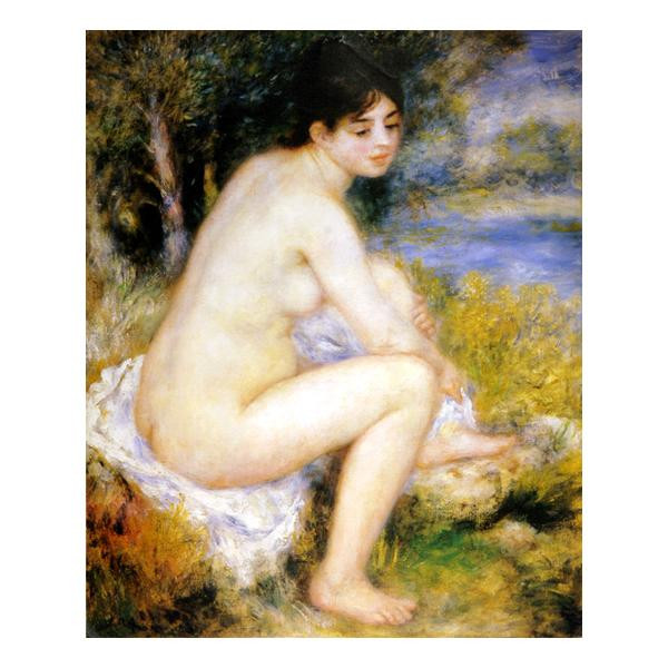 プリハード ピエール・オーギュスト・ルノワール 足を拭う水浴の女 F8号 額縁D 4700