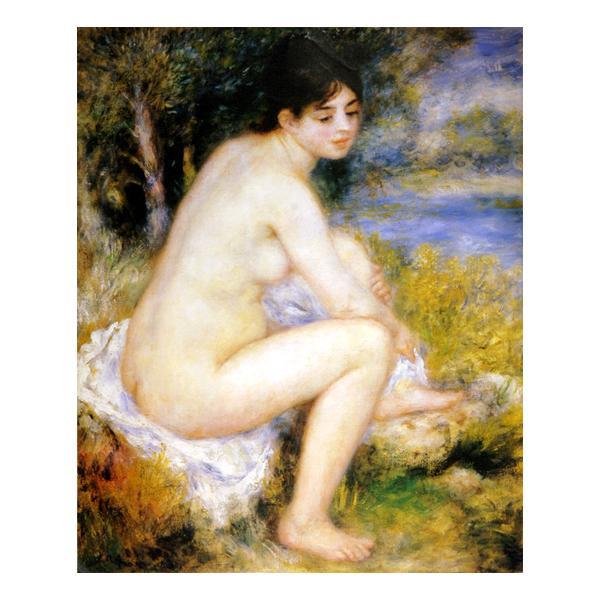 プリハード ピエール・オーギュスト・ルノワール 足を拭う水浴の女 F8号 額縁G 4700