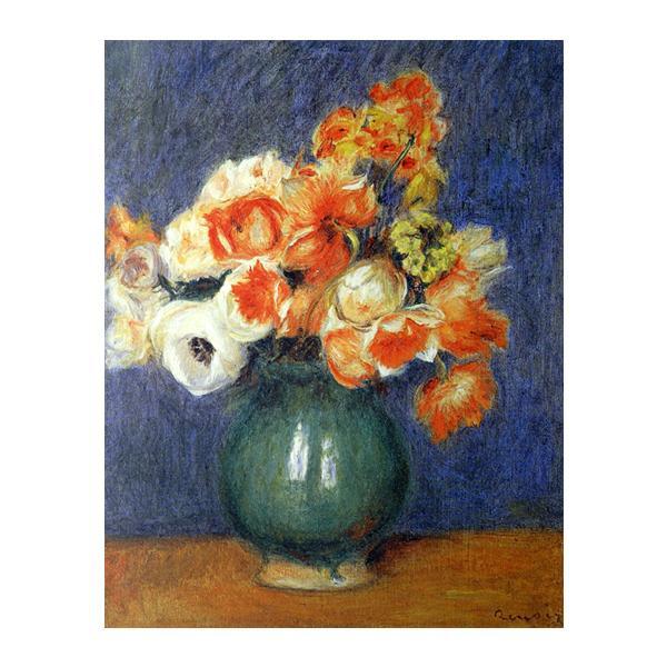 プリハード ピエール・オーギュスト・ルノワール 青い花瓶のアネモネ F6号 額縁B 3147