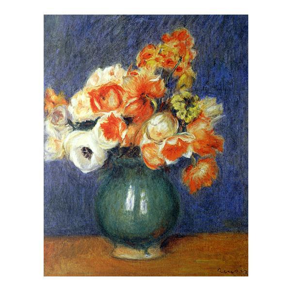 プリハード ピエール・オーギュスト・ルノワール 青い花瓶のアネモネ F6号 額縁G 3147