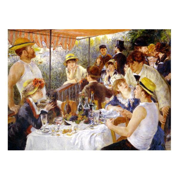 プリハード ピエール・オーギュスト・ルノワール 舟遊びをする人々の昼食 P10号 額縁C 5708