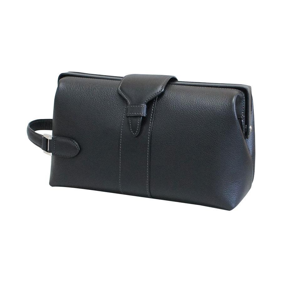 牛革枠付きセカンドバッグ クロ NK-2015-BLA