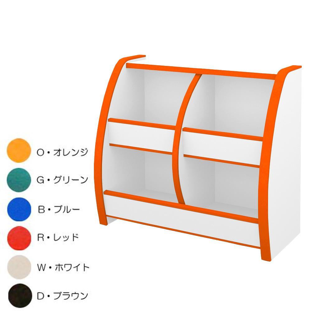 知育家具 EVAキッズシリーズ おもちゃばこ 幅65cm OB-65M O・オレンジ