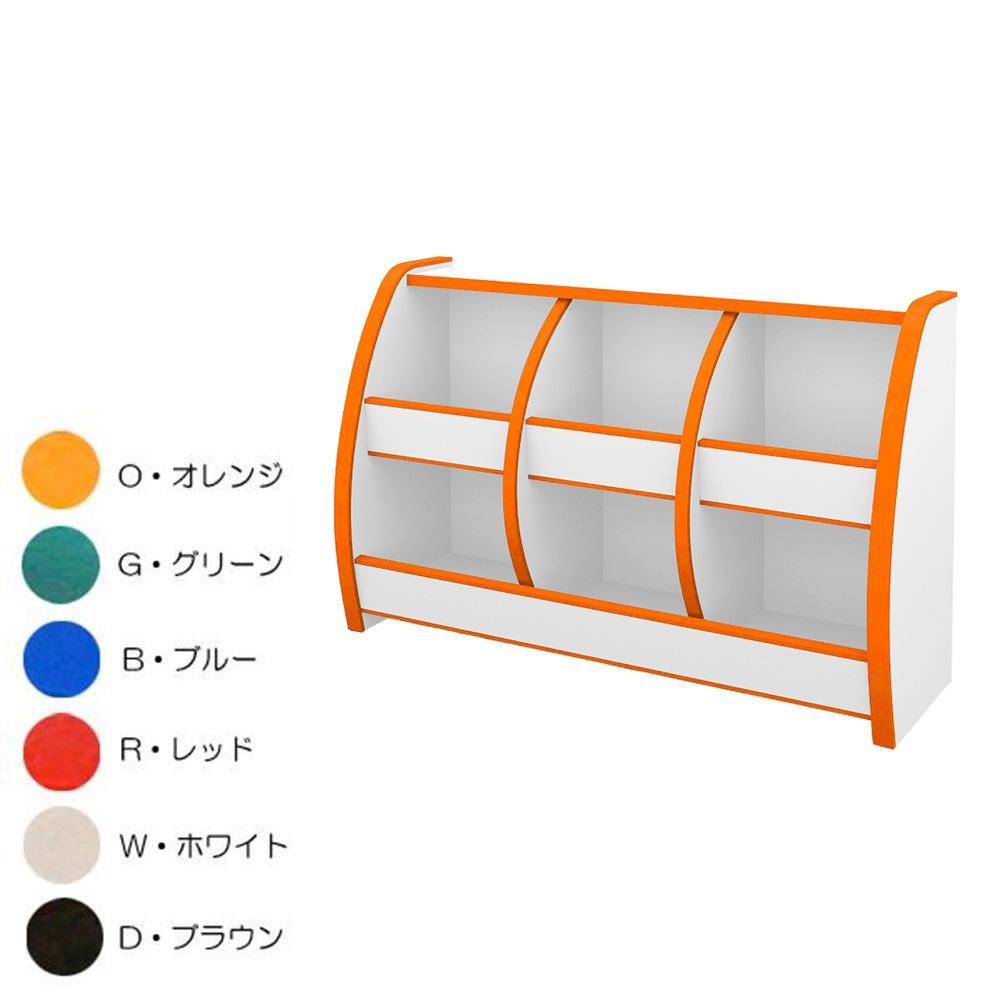 知育家具 EVAキッズシリーズ おもちゃばこ 幅95cm OB-95M O・オレンジ