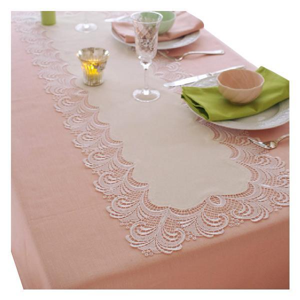 テーブルランナー レース ローマ 約38×98cm ホワイト 602013-0001-10
