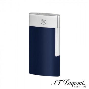『1年保証』 電気で着火するテクノロジーライター S.T. Dupont エス 信憑 テー デュポン クローム ブルー 027008E E-スリム ライター