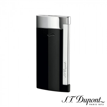 エス・テー・デュポン 027700 ブラック&クローム S.T. スリム 027700 ライター 7 Dupont