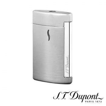 セールSALE%OFF 丸みを帯びた手に心地よく収まるフォルム S.T. Dupont エス テー 010504 ライター デュポン ミニジェット ブラッシュクローム オリジナル