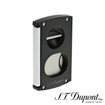 S.T. Dupont エス・テー・デュポン シガーカッター ダブルブレード ブラック&クローム  003419 003419